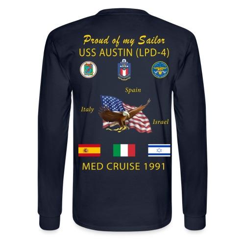 USS AUSTIN 1991 LONG SLEEVE CRUISE SHIRT - FAMILY - Men's Long Sleeve T-Shirt