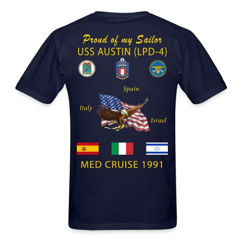 USS AUSTIN 1991 CRUISE SHIRT - FAMILY - Men's T-Shirt