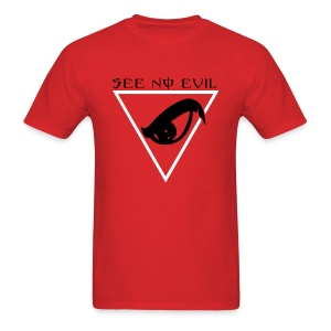 See No Evil T (Red) - Men's T-Shirt