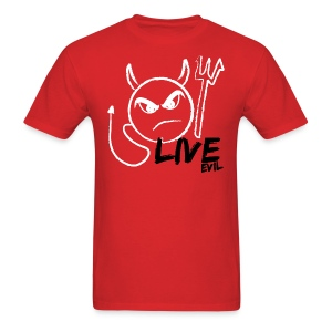 Live Evil Devil T (Red) - Men's T-Shirt