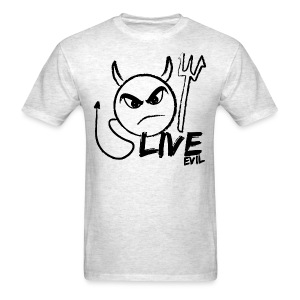Live Evil Devil T (Heather Grey) - Men's T-Shirt