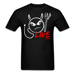 Live Evil Devil T (Black) - Men's T-Shirt