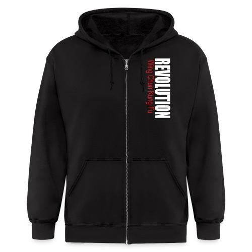 Revolution Zipper Hoodie No Logo Back - Men's Zip Hoodie