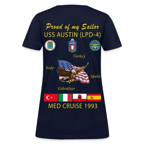USS AUSTIN 1993 WOMENS CRUISE SHIRT - FAMILY - Women's T-Shirt
