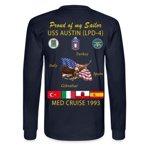 USS AUSTIN 1993 LONG SLEEVE CRUISE SHIRT - FAMILY - Men's Long Sleeve T-Shirt