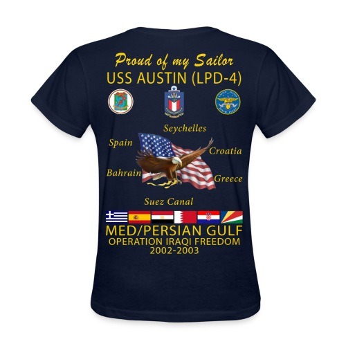 USS AUSTIN 2002-03 WOMENS CRUISE SHIRT - FAMILY - Women's T-Shirt