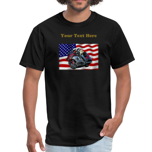 Men's T Front FlagWing Lean Txt - Men's T-Shirt
