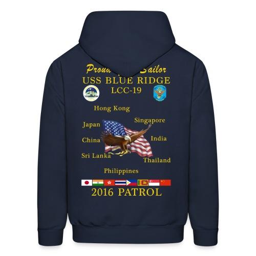 USS BLUE RIDGE LCC-19 2016 SPRING PATROL HOODIE - FAMILY VERSION - Men's Hoodie