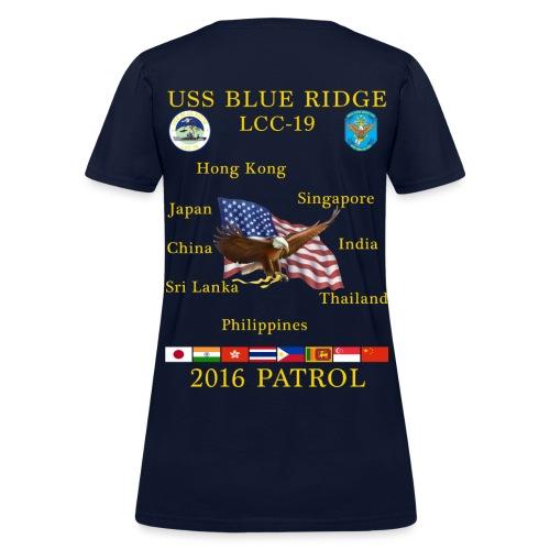 USS BLUE RIDGE LCC-19 2016 SPRING PATROL WOMENS  T-SHIRT - Women's T-Shirt
