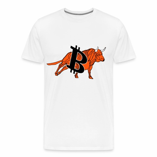 bitcoin bull - Men's Premium T-Shirt