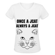 T-Shirts ~ Women's V-Neck T-Shirt ~ Once a Jcat, Always a Jcat V-Neck