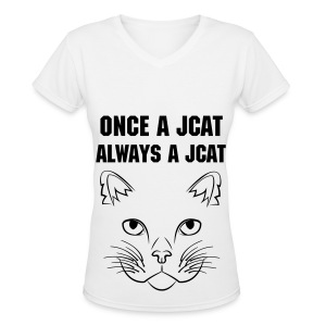 Once a Jcat, Always a Jcat V-Neck - Women's V-Neck T-Shirt