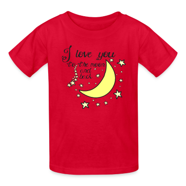 I love you to the moon and back kids t-shirt