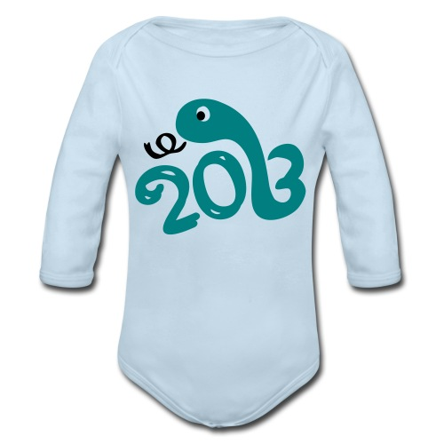 2013 year of the snake Baby Long Sleeve One Piece - Organic Long Sleeve Baby Bodysuit