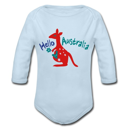Hello Australia Baby Long Sleeve One Piece - Organic Long Sleeve Baby Bodysuit