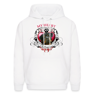 My Heart Belongs to a Rottweiler Hoodies