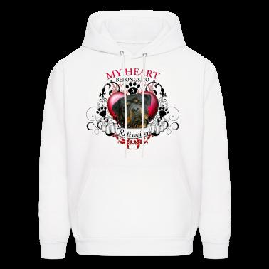 My Heart Belongs to a Rottweiler Hoodies