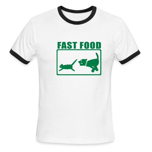 Fast Food Men's T - Men's Ringer T-Shirt