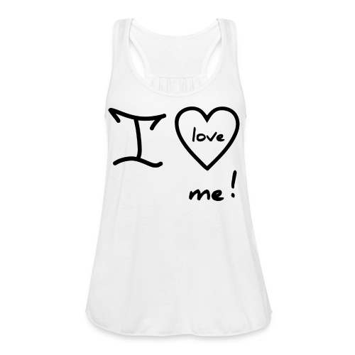 RED I LOVE ME - Women's Flowy Tank Top by Bella