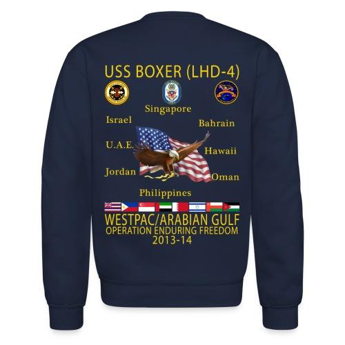 USS BOXER LHD-4 2013-14 CRUISE SWEATSHIRT - Crewneck Sweatshirt
