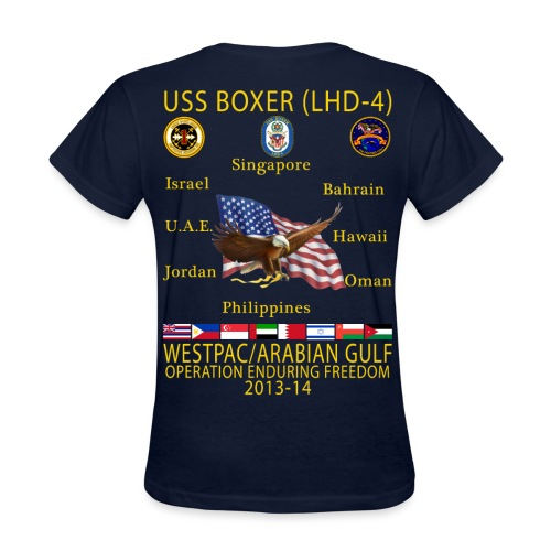 USS BOXER LHD-4 2013-14 WOMENS CRUISE SHIRT - Women's T-Shirt