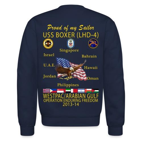 USS BOXER LHD-4 2013-14 CRUISE SWEATSHIRT - FAMILY EDITION - Crewneck Sweatshirt