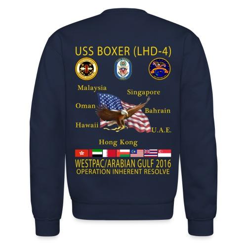 USS BOXER LHD-4 2016 CRUISE SWEATSHIRT - Crewneck Sweatshirt