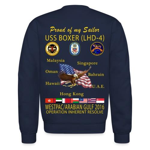 USS BOXER LHD-4 2016 CRUISE SWEATSHIRT - FAMILY EDITION - Crewneck Sweatshirt