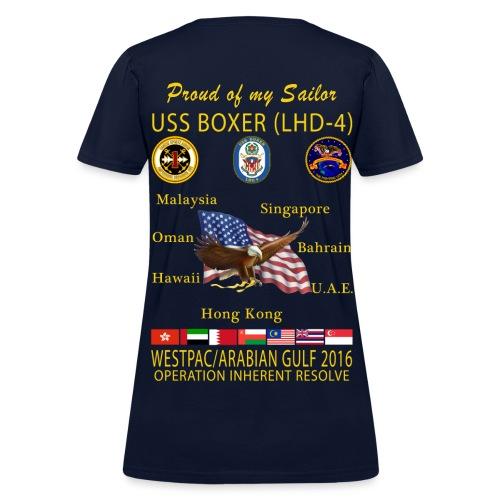 USS BOXER LHD-4 2016 WOMENS CRUISE SHIRT - FAMILY EDITION - Women's T-Shirt