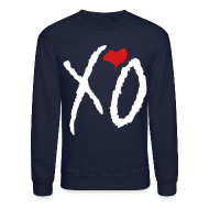 Long Sleeve Shirts ~ Men's Crewneck Sweatshirt ~ XO Crewneck
