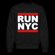 Long Sleeve Shirts ~ Men's Crewneck Sweatshirt ~ Run New York City