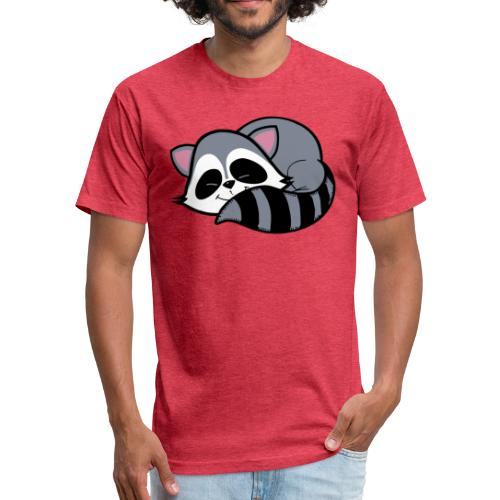 Raccoon - Fitted Cotton/Poly T-Shirt by Next Level