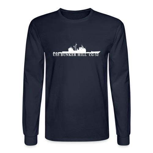 USS BUNKER HILL CG-52 Long Sleeve Waterline Sweatshirt - Men's Long Sleeve T-Shirt