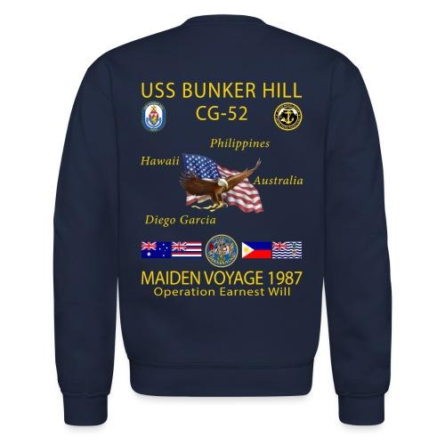 USS BUNKER HILL CG-52 1987 CRUISE SWEATSHIRT - Crewneck Sweatshirt