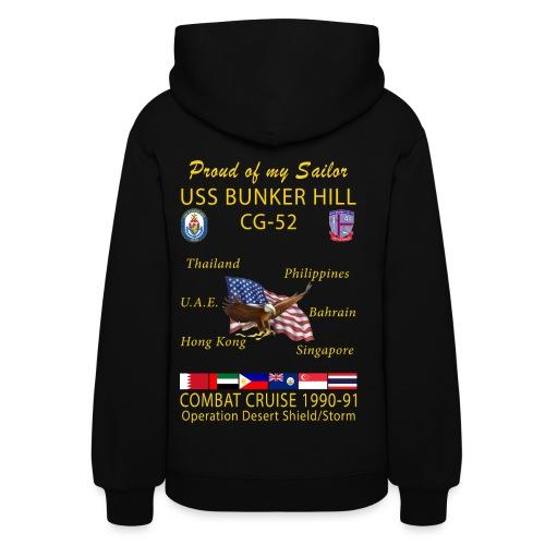 USS BUNKER HILL CG-52 1990-91 WOMENS CRUISE HOODIE - FAMILY - Women's Hoodie