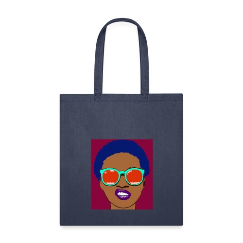 Tote Bag - women,woman,sunglasses,natural hair,facial expression,cool,color,blue hair