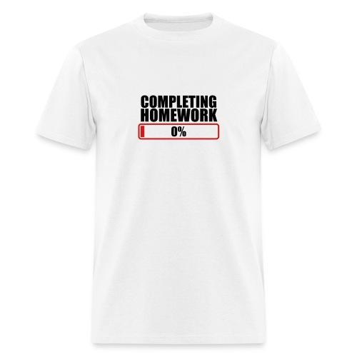 Completing Homework - Men's T-Shirt
