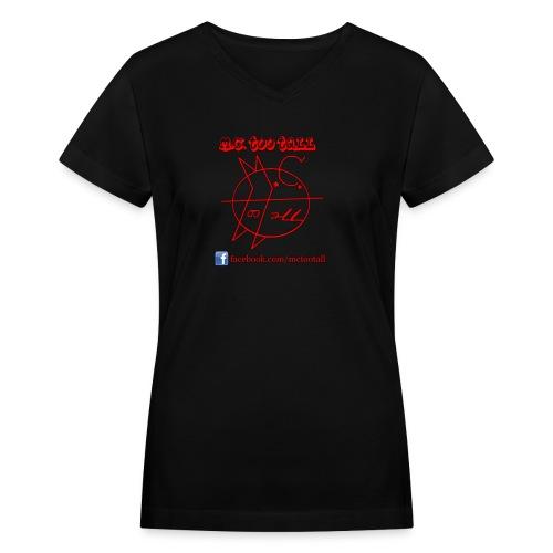 New Logo Status (female) - Women's V-Neck T-Shirt