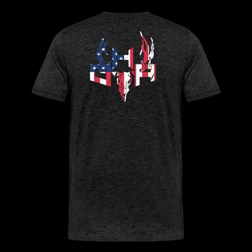 Flag (Back) - Men's Premium T-Shirt