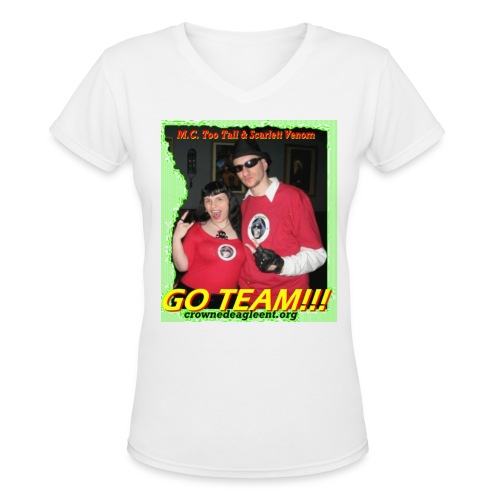 Go Team (female) - Women's V-Neck T-Shirt