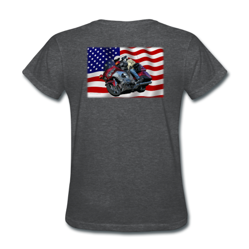 Ladie's T Back FlagWingLean - Women's T-Shirt