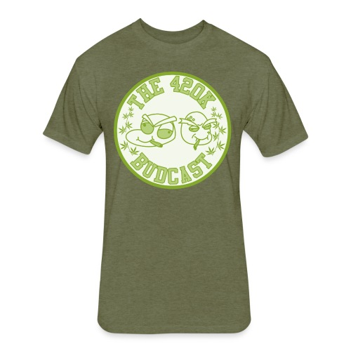 The 420k Budcast Shirt (4 Him) - Fitted Cotton/Poly T-Shirt by Next Level