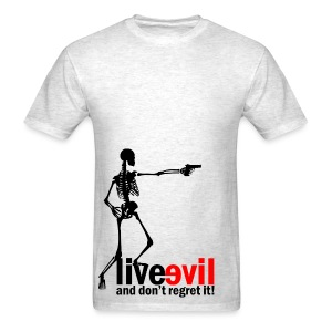 Live Evil Skeleton Mercenary (Heather Grey) - Men's T-Shirt