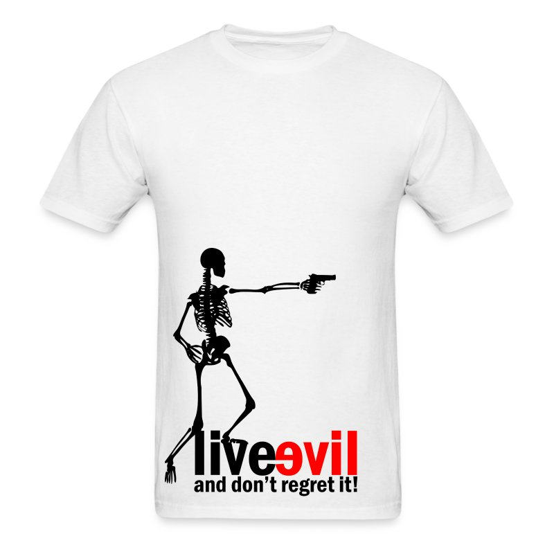 Live Evil Skeleton Mercenary (White) - Men's T-Shirt