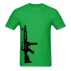 Live Evil Lock N' Load (Green) - Men's T-Shirt