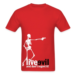 Live Evil Skeleton Mercenary (Red) - Men's T-Shirt