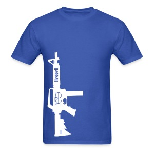 Live Evil Lock N' Load (Blue) - Men's T-Shirt