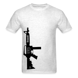 Live Evil Lock N' Load (Heather Grey) - Men's T-Shirt