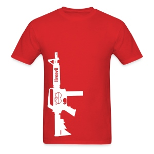 Live Evil Lock N' Load (Red) - Men's T-Shirt