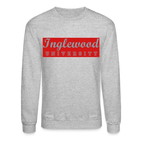 Grey/Red Inglewood University Long Sleeve - Crewneck Sweatshirt